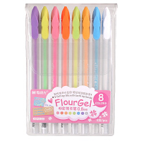 晨光荧光中性笔 DIY彩色相册笔 8色套装糖果色水粉笔/粉彩笔61303