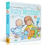 【顺丰速运】英文原版 You're Getting a Baby Brother! 带弟弟儿童育儿纸板书