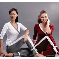 女士瑜珈服套装 秋冬新款瑜伽服套装 瑜伽健身舞蹈服