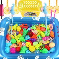 儿童钓鱼玩具池套装 宝宝磁性钓鱼竿小孩子玩具1-3-6周岁戏水
