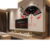 创意家用挂表现代简约大气石英钟中式钟表挂钟客厅个性时钟 16英寸(直径40.5厘米)