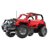 10-12岁男孩电动遥控拼装模型汽车积木车玩具