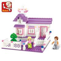 快乐小鲁班 粉色梦想公主拼装城堡女孩城市组装儿童玩具积木3-6-10周岁生日礼物儿童节礼物