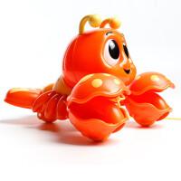 萌动欢乐小龙虾婴儿宝宝学爬学步儿童拉线绳拖拉玩具车 小泰克拖拉小龙虾