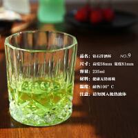 【六只装】无铅耐热水晶玻璃洋酒杯钻石杯威士忌啤酒杯高脚香槟杯