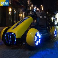 新款四轮灯光科幻儿童汽车可坐人四轮卡丁车摩托车带遥控小孩玩具车酷炫自驾兜风童车
