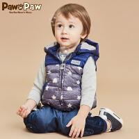 【2件2.5折 到手价:175元】商品名 : Pawinpaw宝英宝卡通小熊童装冬款男宝宝羽绒马甲