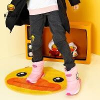 【4折价:83.6】B.duck小黄鸭 新款女童中大童卡通花边针织打底长裤BF5058901
