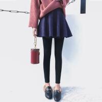 【每满100减50】茉蒂菲莉 打底裤 女士假两件裙子秋冬新款女装时尚裤裙学生休闲潮外穿女式裤子