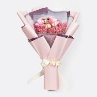 森情花坊满天星干花真花花束毕业生日礼物礼盒创意捧花永生花素材礼品