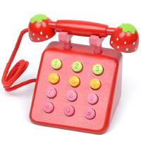 红色粉色电话机 早教仿真娃娃家儿童玩具宝宝女孩礼物2-3-4-5-6岁