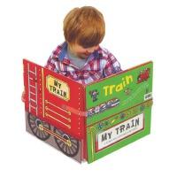 【全店300减100】进口英文原版 Convertible Train 变形火车纸板玩具书Amy Johnson儿童游戏