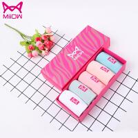猫人女士袜子女士中筒袜精梳棉纯色粉色系 5双礼盒装猫人女士袜子女士中筒袜 粉色系