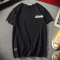 港风男士2018新品夏季短袖T恤宽松圆领加肥加大码潮流男装青少年