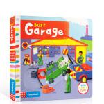 【顺丰速运】英文进口原版 Busy Garage 繁忙的车库 儿童玩具启蒙书图画书 纸板机关操作书