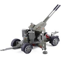 儿童玩具车双管机关炮军事模型合金1:35高射炮模型