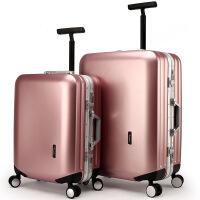 【满50减20 满90减40】多伦保罗铝框万向轮拉杆箱24寸旅行箱男女学生行李箱20磨砂登机箱