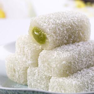 【百草味_抹茶味麻薯】休闲零食 饼干糕点 雪天使麻薯210gx2袋 台湾特产风味