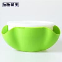 当当优品 创意水果盘干果盘绿色