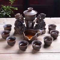 陶瓷石磨复古紫砂泡茶器茶具茶壶杯半全自动茶具套装