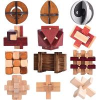 木质制孔明锁儿童礼物老少皆宜多款可选解套解锁题鲁班锁
