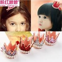 韩版饰品儿童宝宝发夹小皇冠卡子发卡鸭嘴夹边夹发饰女童头饰夹子