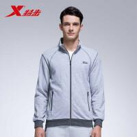 特步官方正品新款男跑步运动上衣舒适轻便时尚男开衫针织外套884129349002