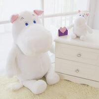维莱 姆明Moomin河马公仔 河马抱枕 睡觉抱枕 超大毛绒玩具 白 25cm
