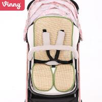 可机洗折叠bb餐椅通用凉席婴儿推车凉席儿童宝宝夏季垫子