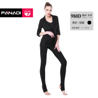 帕娜蒂意大利袜秋冬厚款女丝袜子防勾丝显瘦压力美塑形打底裤 980D 植绒 踩脚 黑色