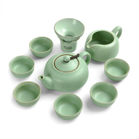 汝窑功夫茶具套装 整套开片陶瓷茶具茶壶茶杯茶海礼盒包装
