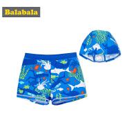 巴拉巴拉儿童泳衣男童泳裤夏装2018新款中大童游泳衣男孩可爱泳装