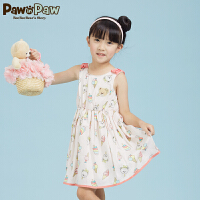 【1件3折 到手价:179】Pawinpaw宝英宝卡通小熊童装夏季款女童连衣裙PCOW72649S