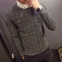 新款秋冬男士假两件套衬衫领毛衣小码线衣男XS号韩版帅气针织套头