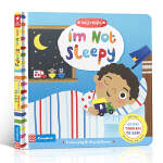英文原版进口绘本 I'm Not Sleepy 我不困 儿童启蒙纸板翻翻书 睡前读物 生活习惯养成 帮助儿童入眠 2-