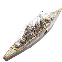 3D立体金属拼图拼装船模型长门号战列舰拼插玩具手工DIY