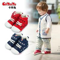 卡特兔宝宝春款鞋帆布鞋刺绣机能学步鞋婴幼儿童软底鞋子1-3-5岁