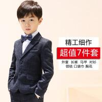 儿童西装套装男童花童礼服钢琴演出服中大童韩版小孩西服外套秋季