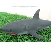 儿童模型仿真海洋生物大白鲨巨齿鲨玩具软胶仿真动物鲨鱼玩具