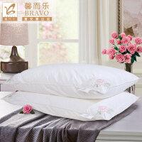 【暑期清凉季 爆款直降】富安娜家纺 馨而乐草本枕头枕芯花香纤柔枕 白色 一个