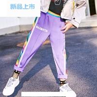 童装2018春装新款洋气女童运动裤长裤韩版中大童休闲裤裤子