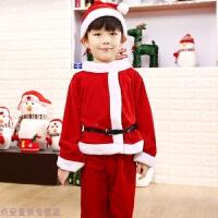儿童圣诞节服装中小童圣诞老人衣服装扮女童圣诞服披肩斗篷套装