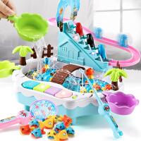 电动鱼轨道车上楼梯儿童爬楼梯玩具男孩小孩1-3-6周岁女孩智力