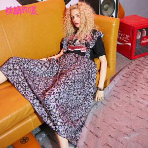 【秒杀价:151】妖精的口袋心机裙子女新款chic假两件原宿短袖连衣裙女