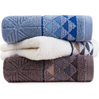 三利 纯棉三角元素提花毛巾3条装 34×74cm