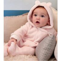 [3折价:78.9]戴维贝拉小熊男女宝宝长袖连体衣婴儿长爬服冬181-N