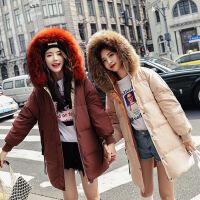 新品 2018新款冬季羽绒服女韩版加厚中长款貉子大毛领反季 直播间款式