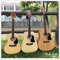 旅行电箱吉他 红棉单板吉他34 36寸吉他38 39寸小民谣儿童便携女生