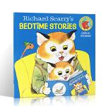 英文原版 Richard Scarry's Bedtime Stories 理查德 斯凯瑞 的 睡前故事 带贴纸绘本