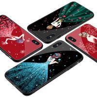 苹果X手机壳玻璃iPhonex女款8X全包保护套